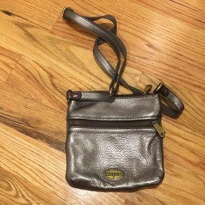 fossil metallic crossbody purse